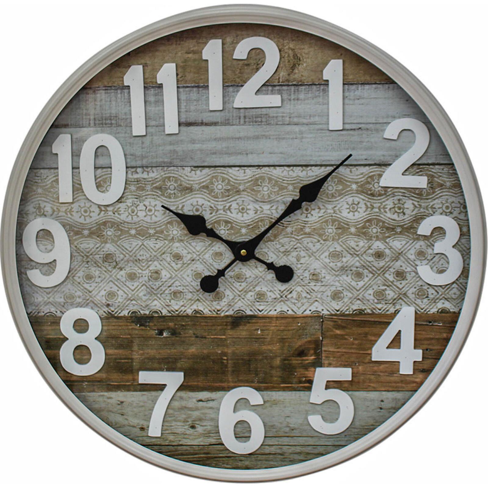 Metal Frame Clock M/Media Nat