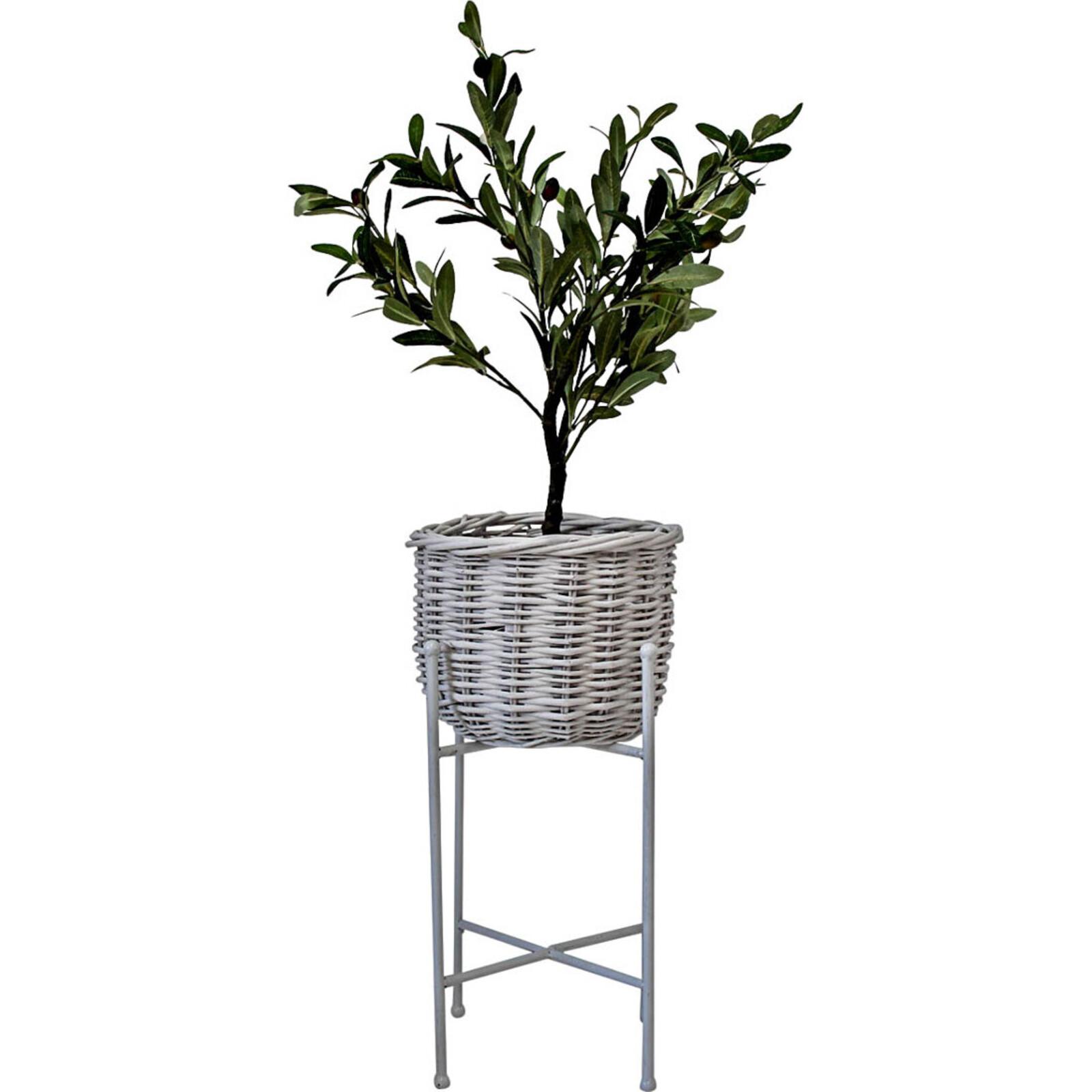 Planter Basket White Sml