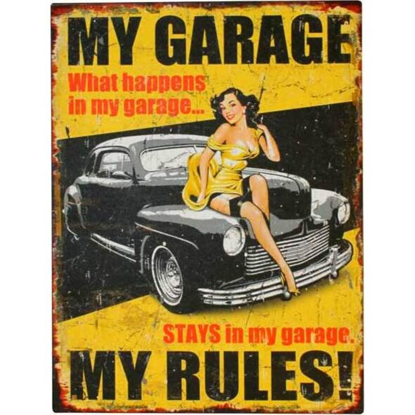 Tin Sign - My Garage