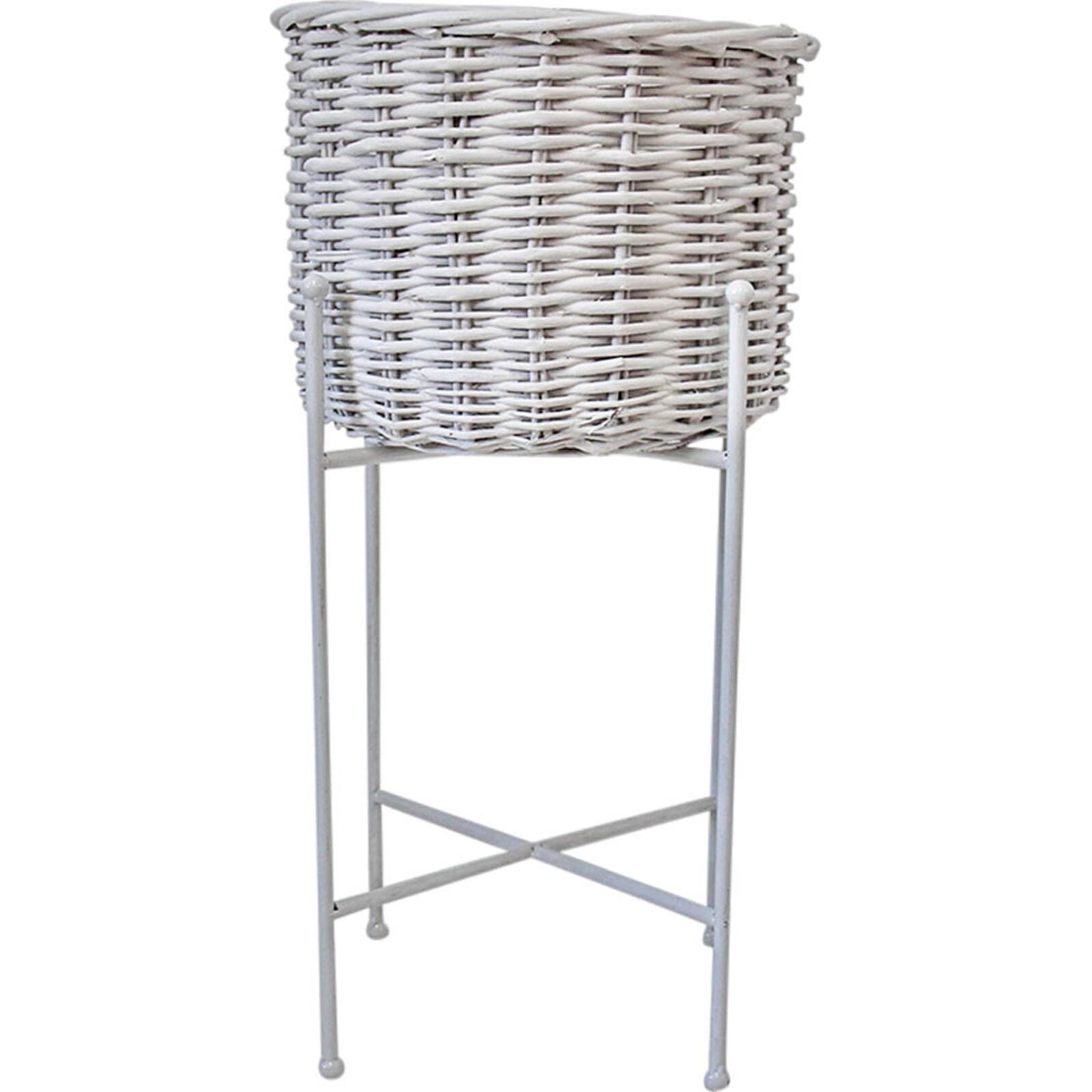 Planter Basket White Lrg
