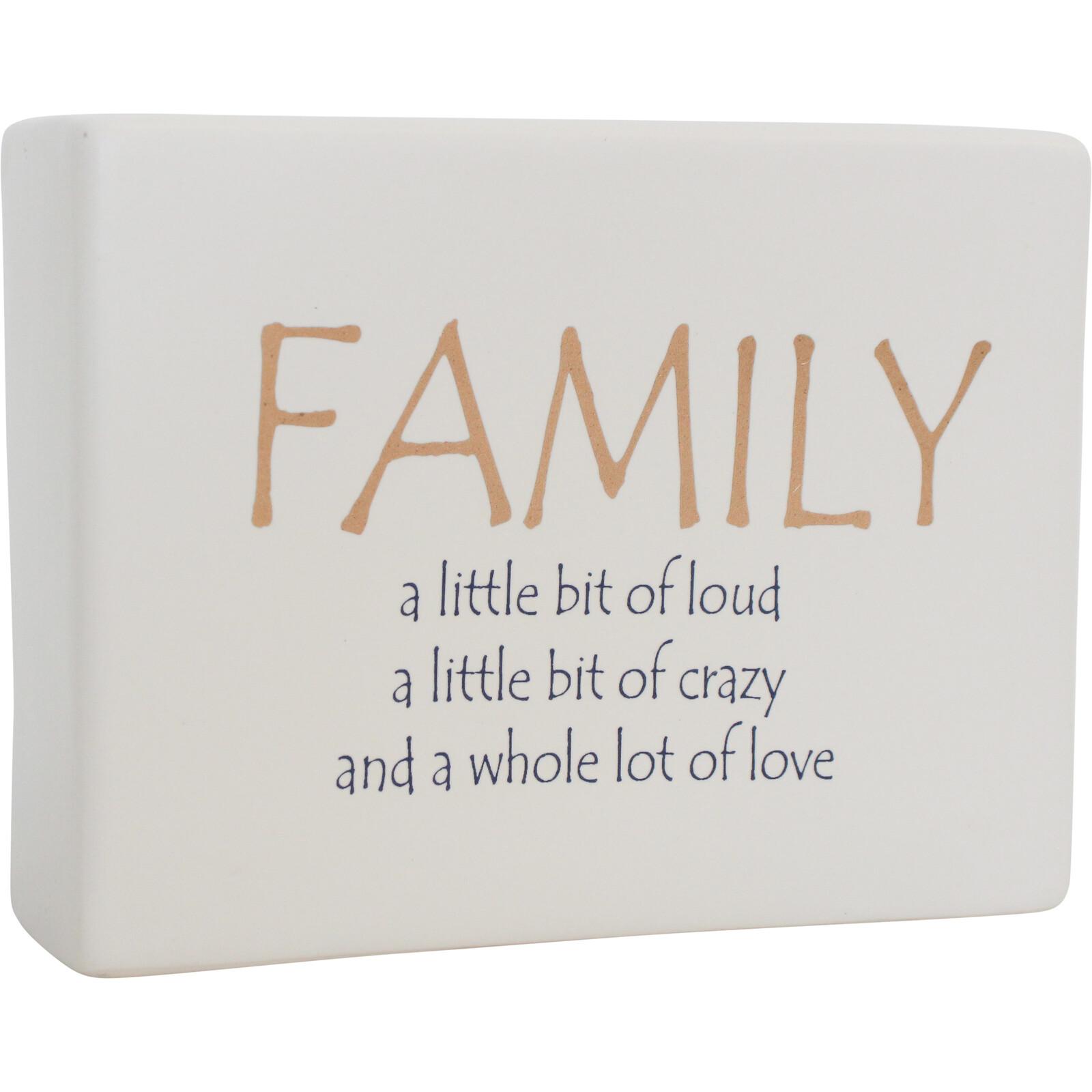 Ceramic Sign Family A Bit