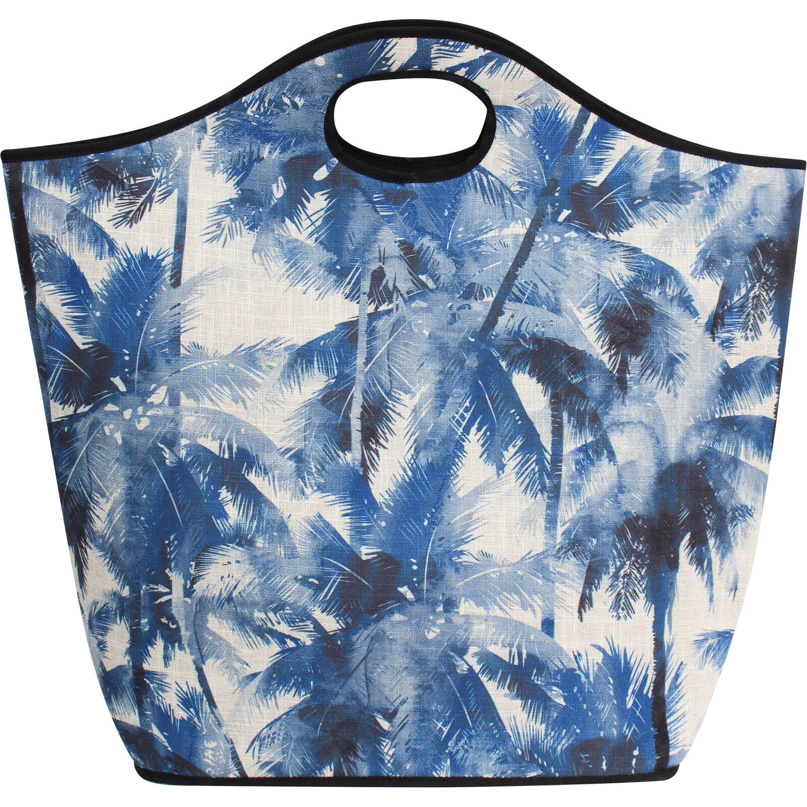 Beach Bag Navy Palm
