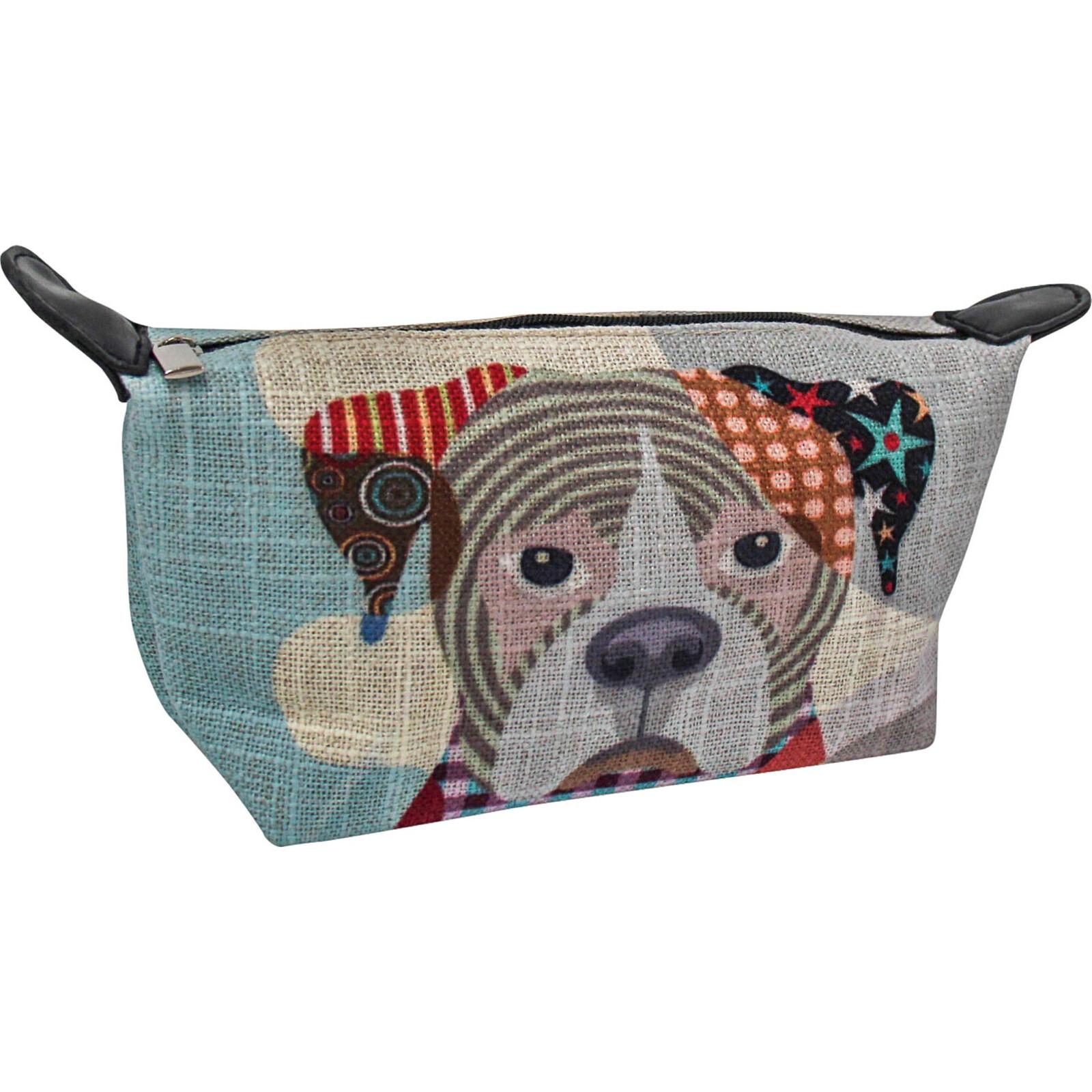 Makeup Bag Abstract Dog