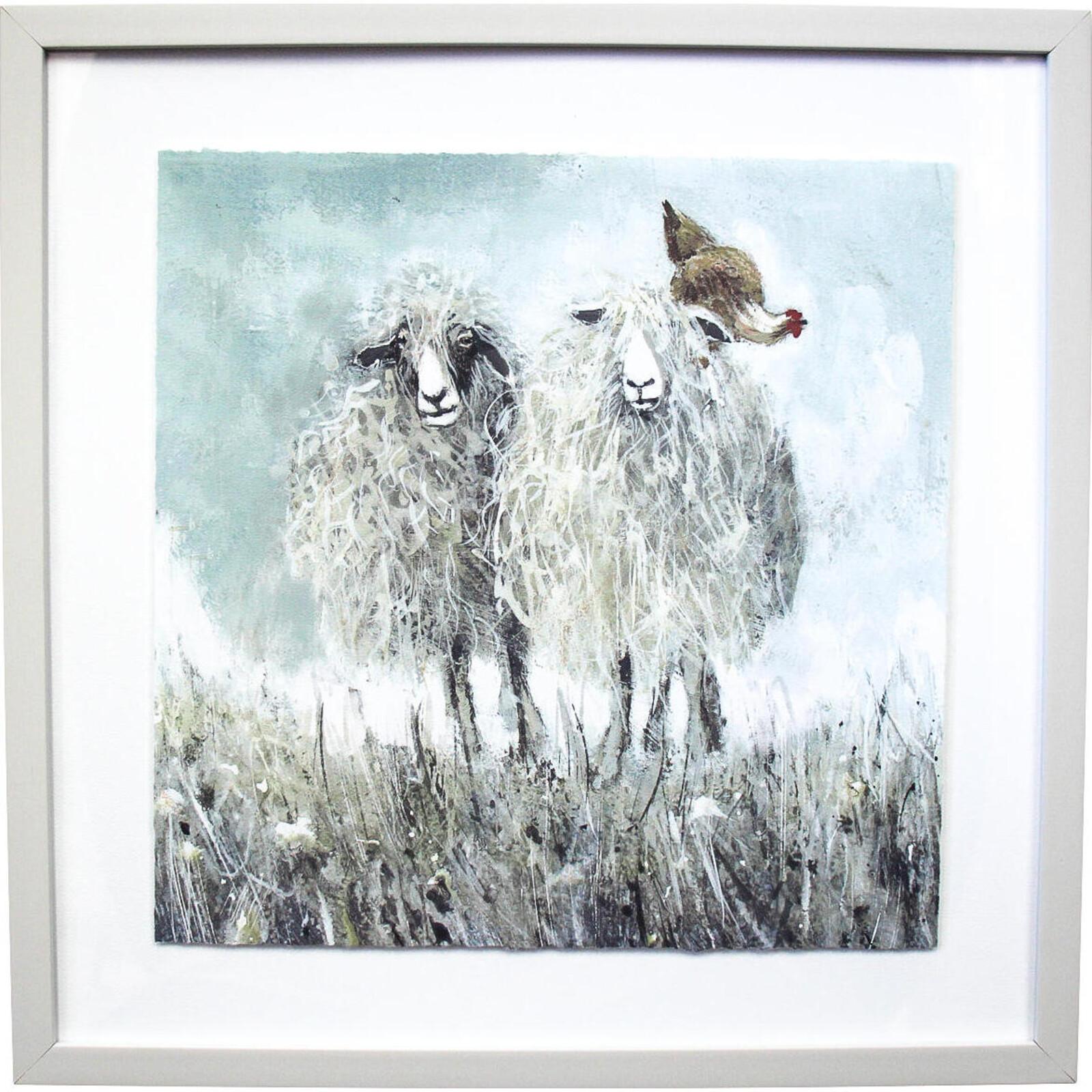 Framed Print Sheep Friends 2