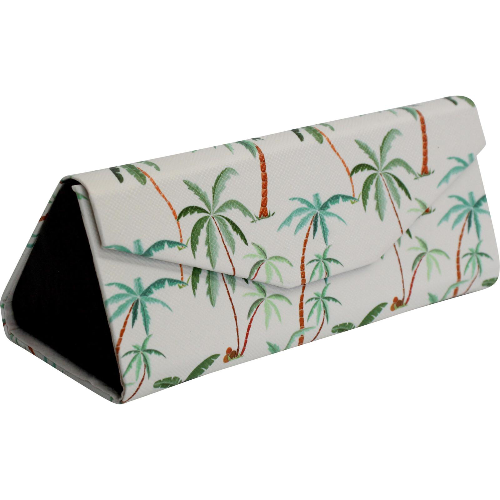 Glasses Case Green Palms