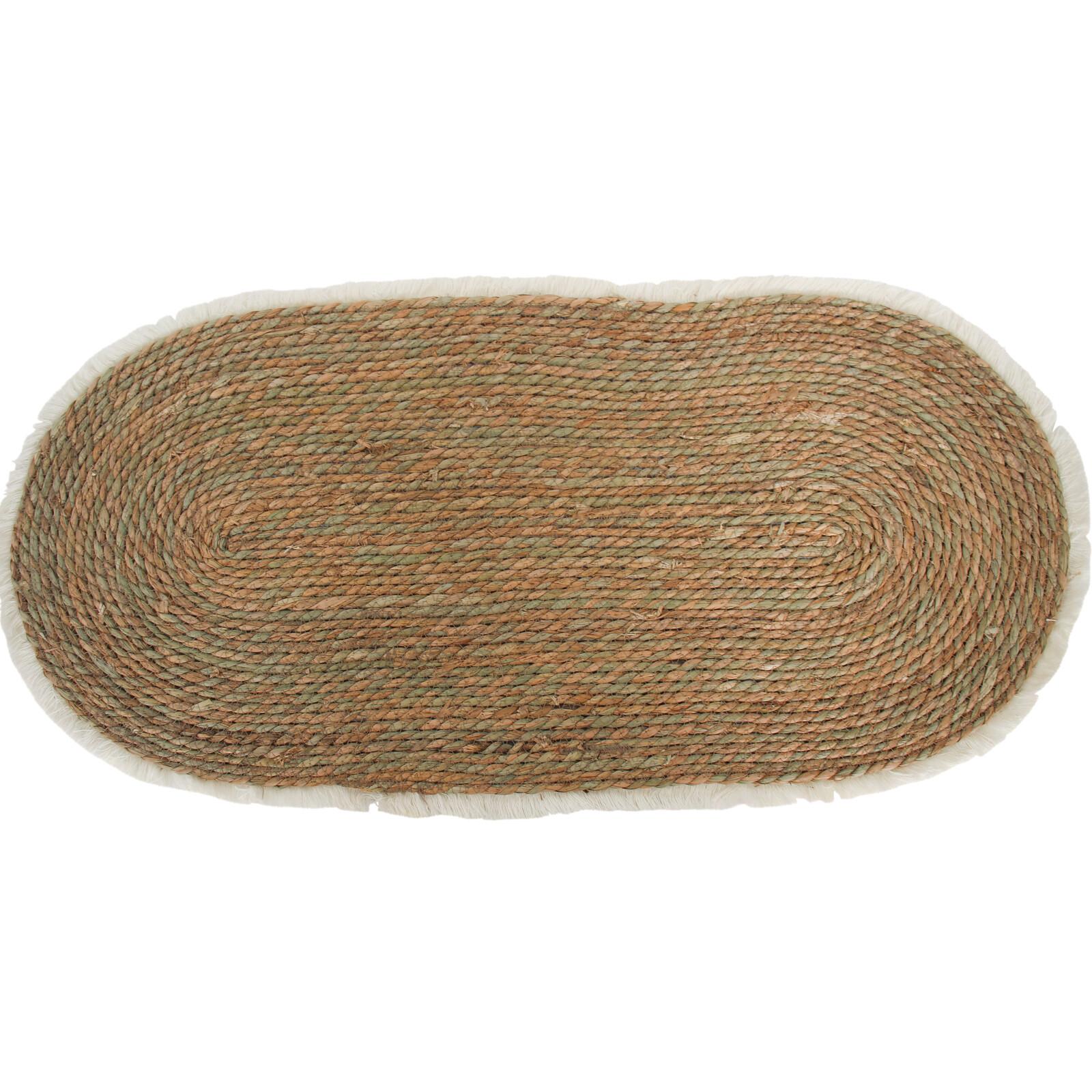Rug Oval Natural Fringe