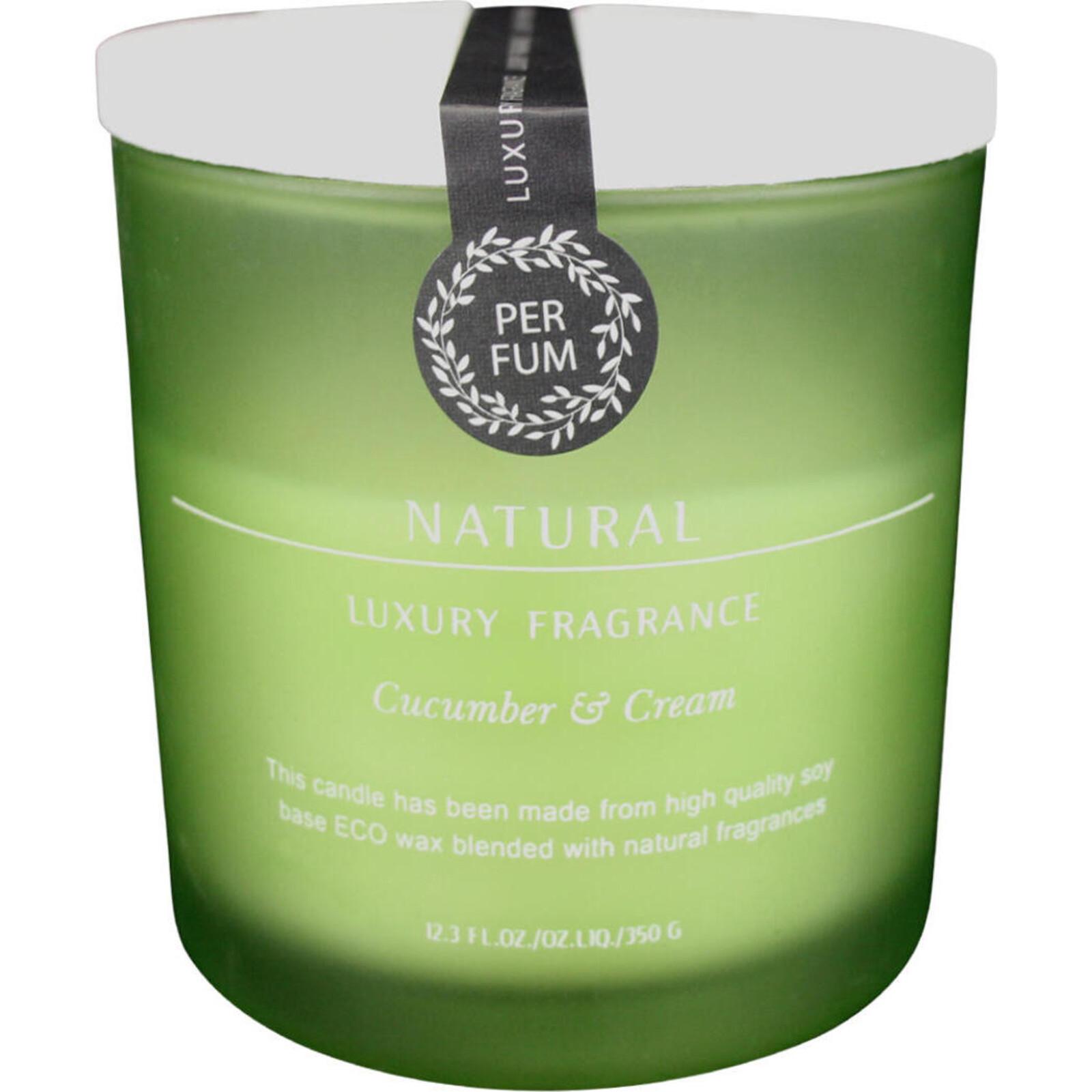Candle Glass Luxury Cucumber & Cream
