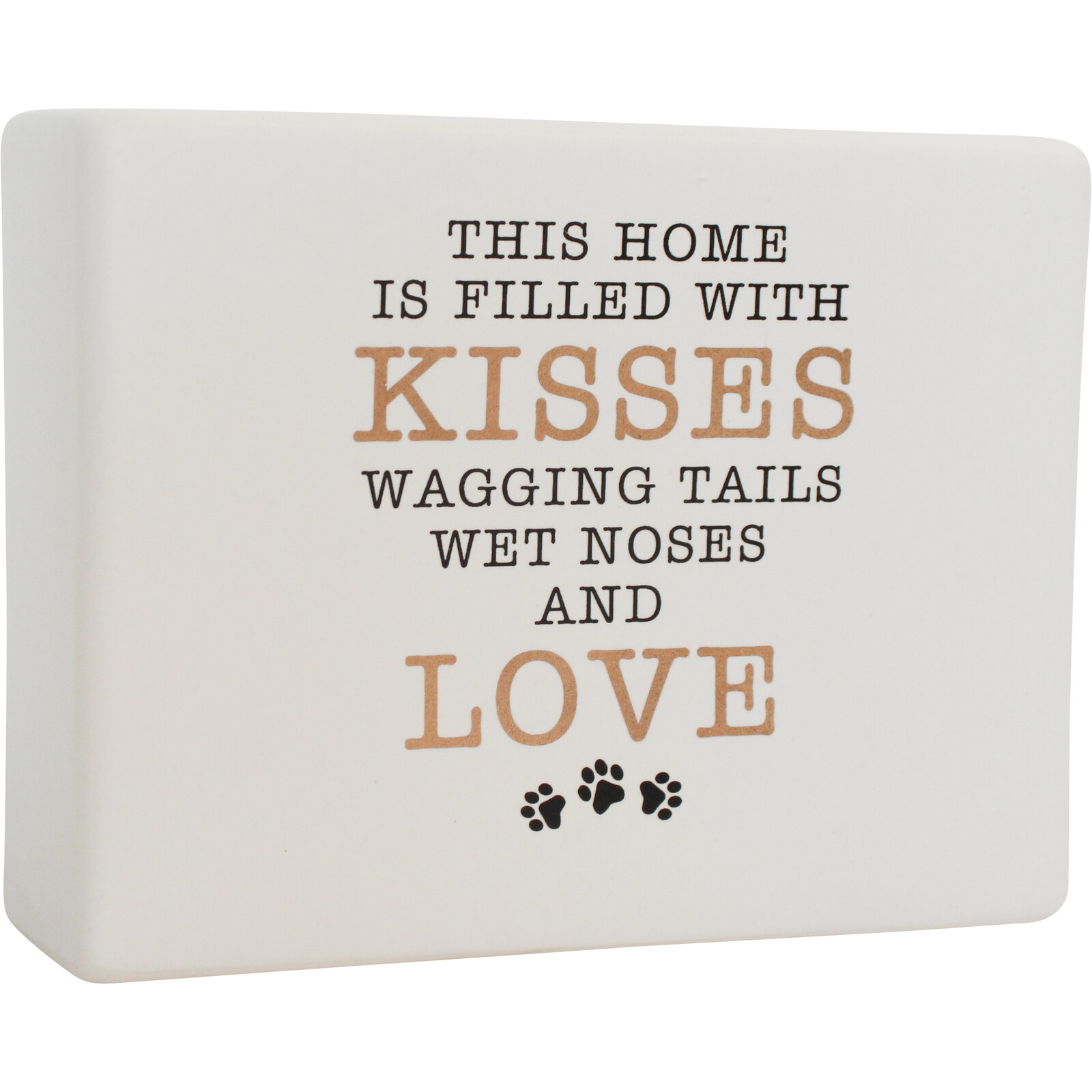 Ceramic Sign Kisses and Tails