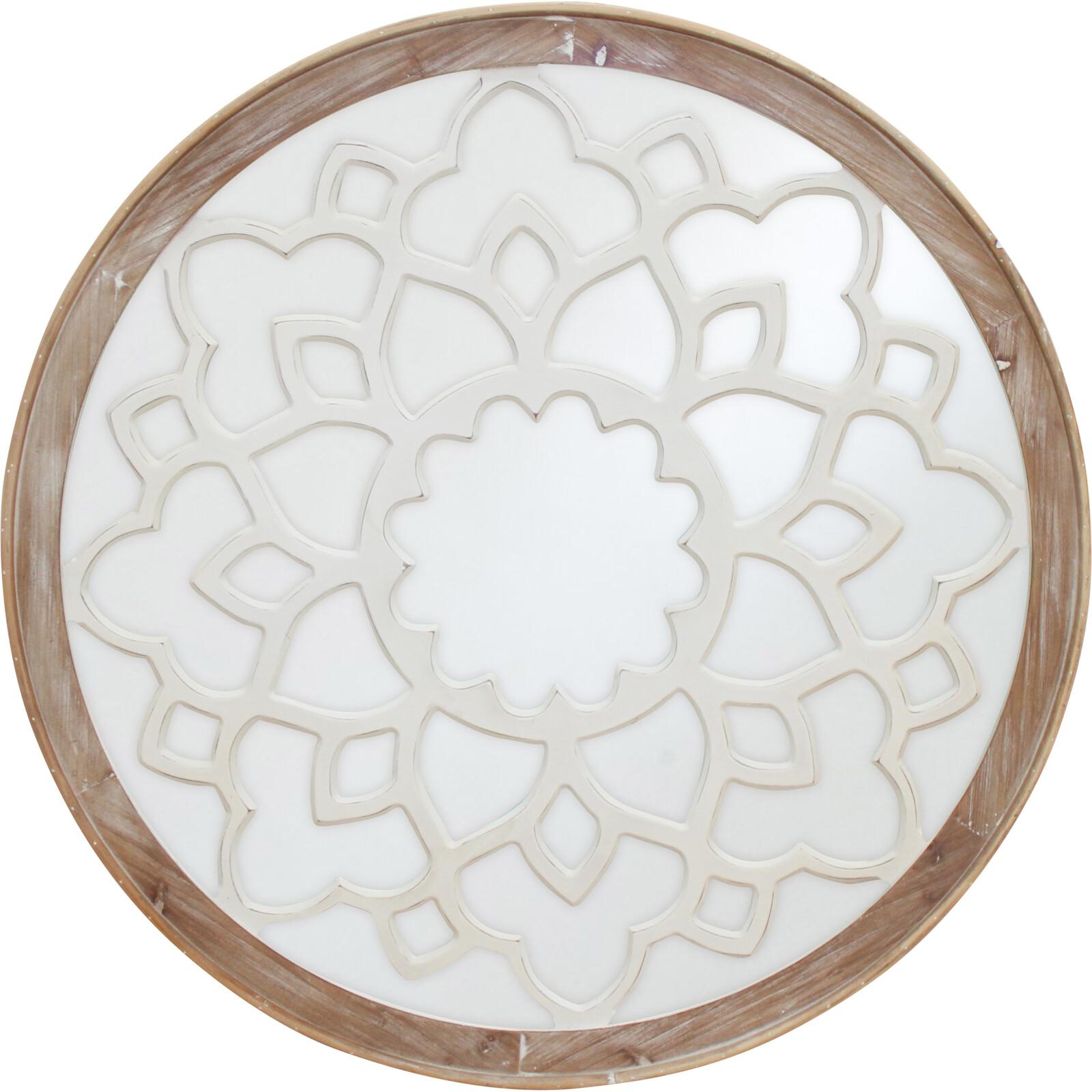 Mirror Round Cut Work