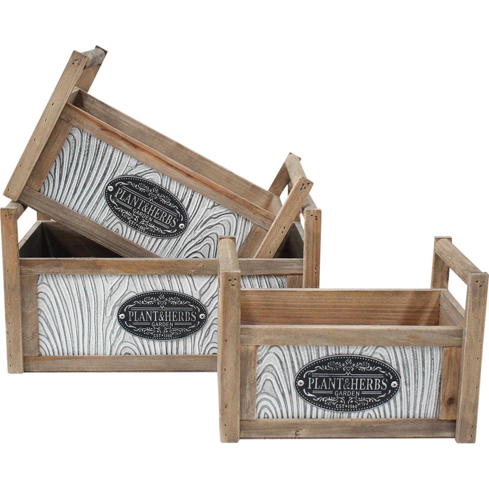 Boxes S/3 w/ Handle Garden