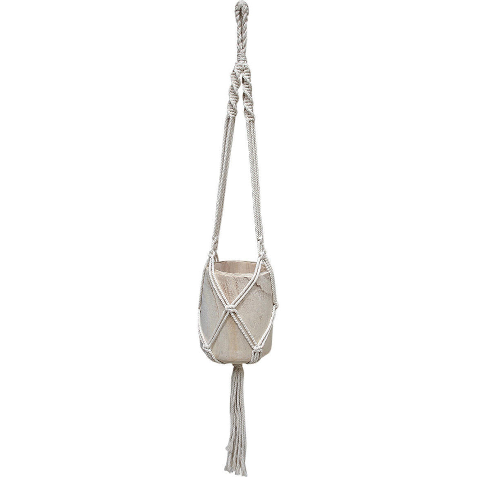 Hanging Macrame Bowl Knotted