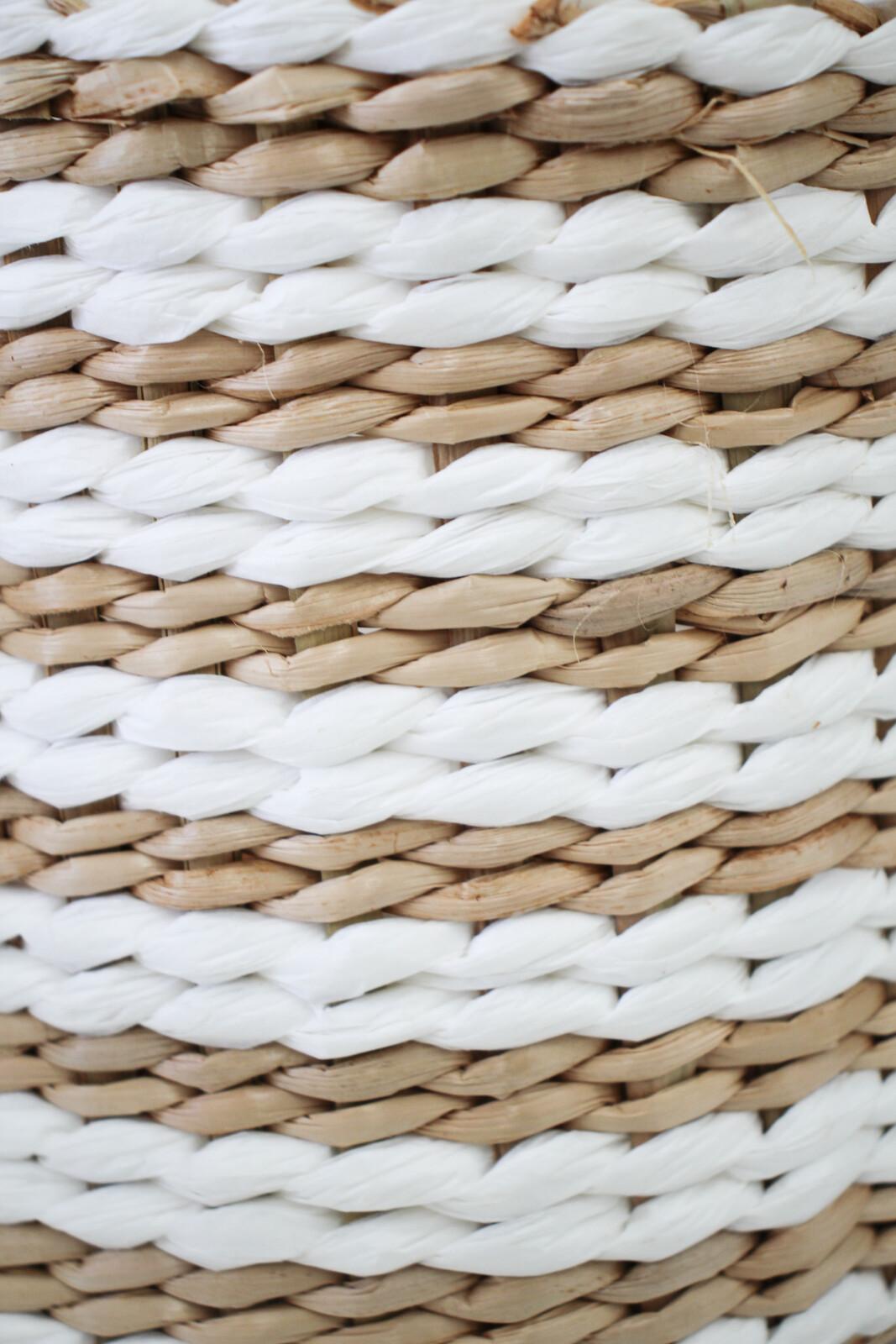 Basket/Planter White/Nat S/3