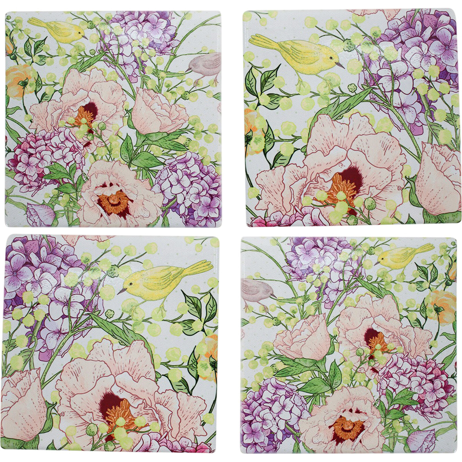Coasters Spring Floral S/4