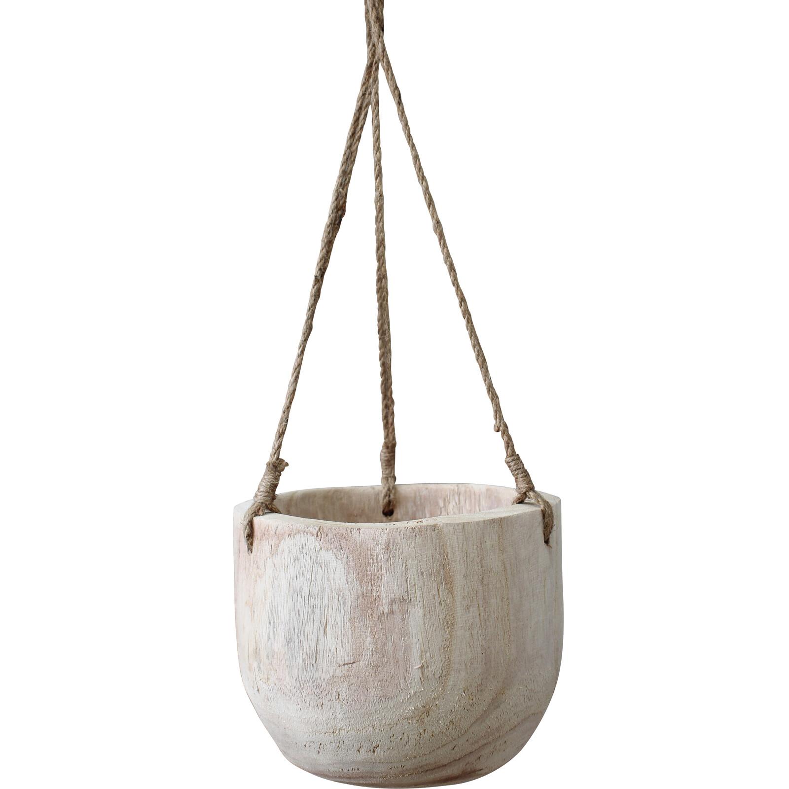 Hanging Timber Planter Peru Lrg
