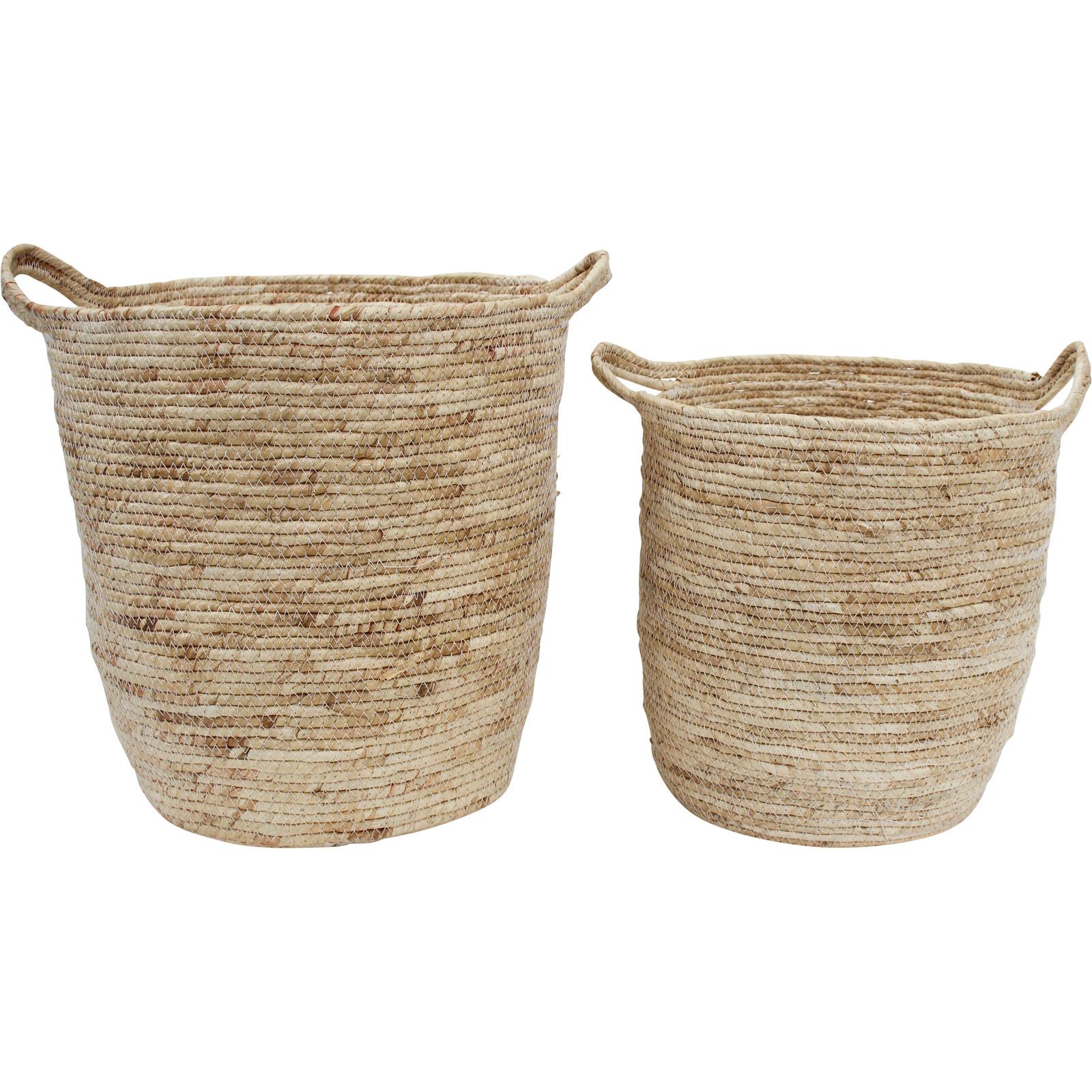 Basket  Bleach Handle S/2