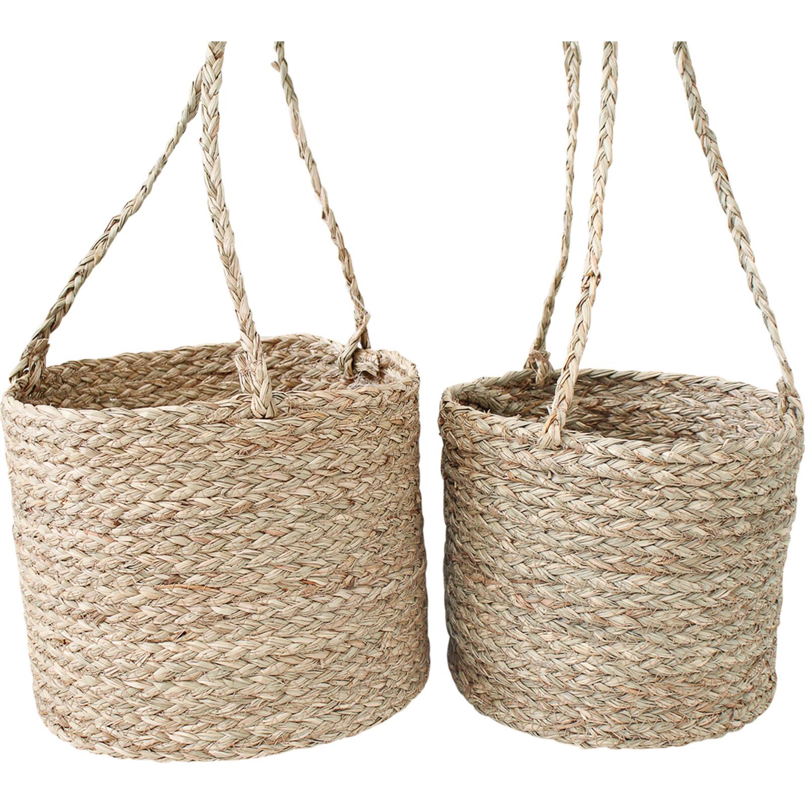 Hanging Boho Basket S/2