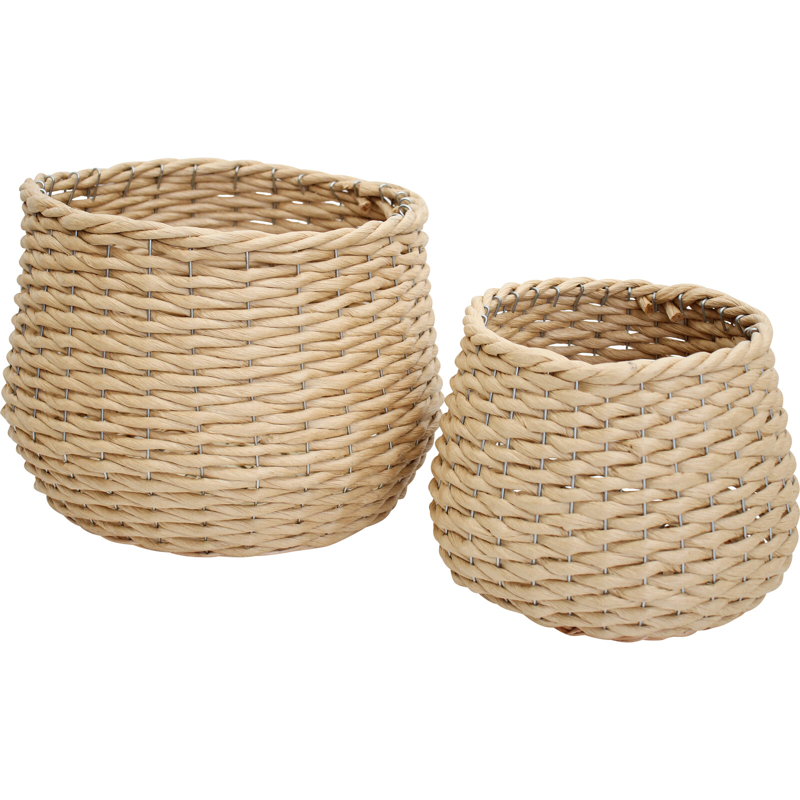 Planters S/2 Woven Ivy