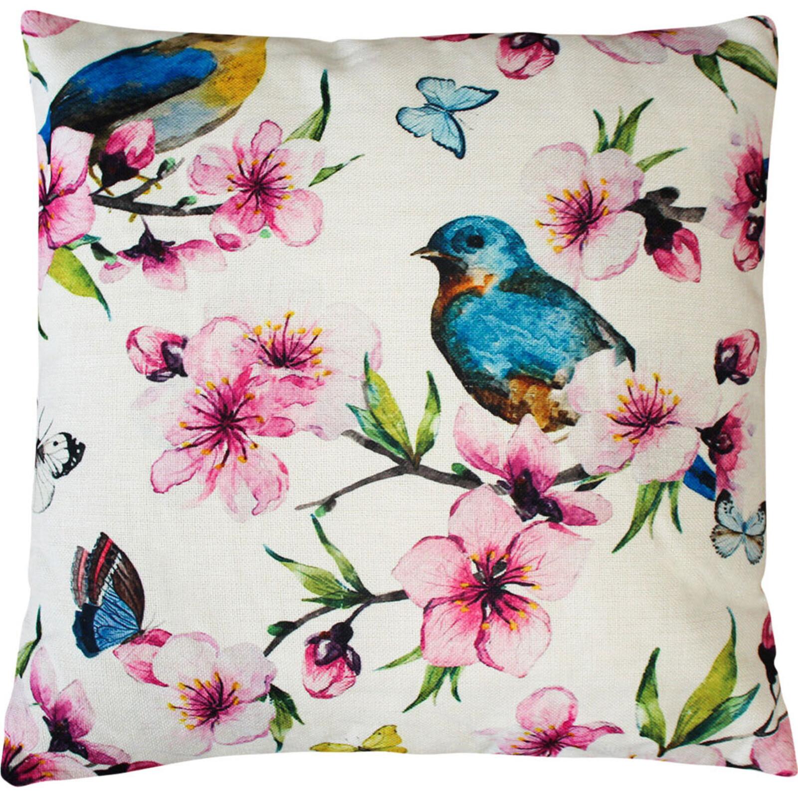Cushion Frangipani Birds