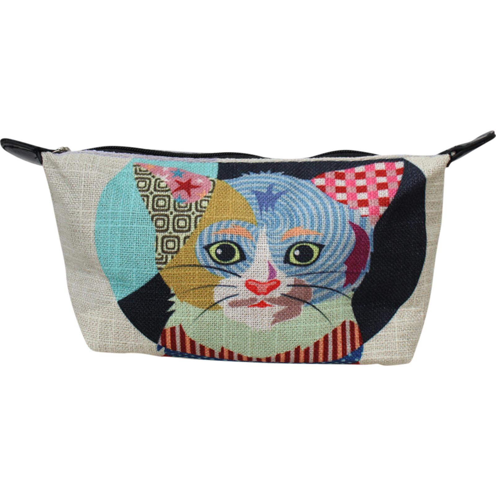 Makeup Bag Abstract Cat