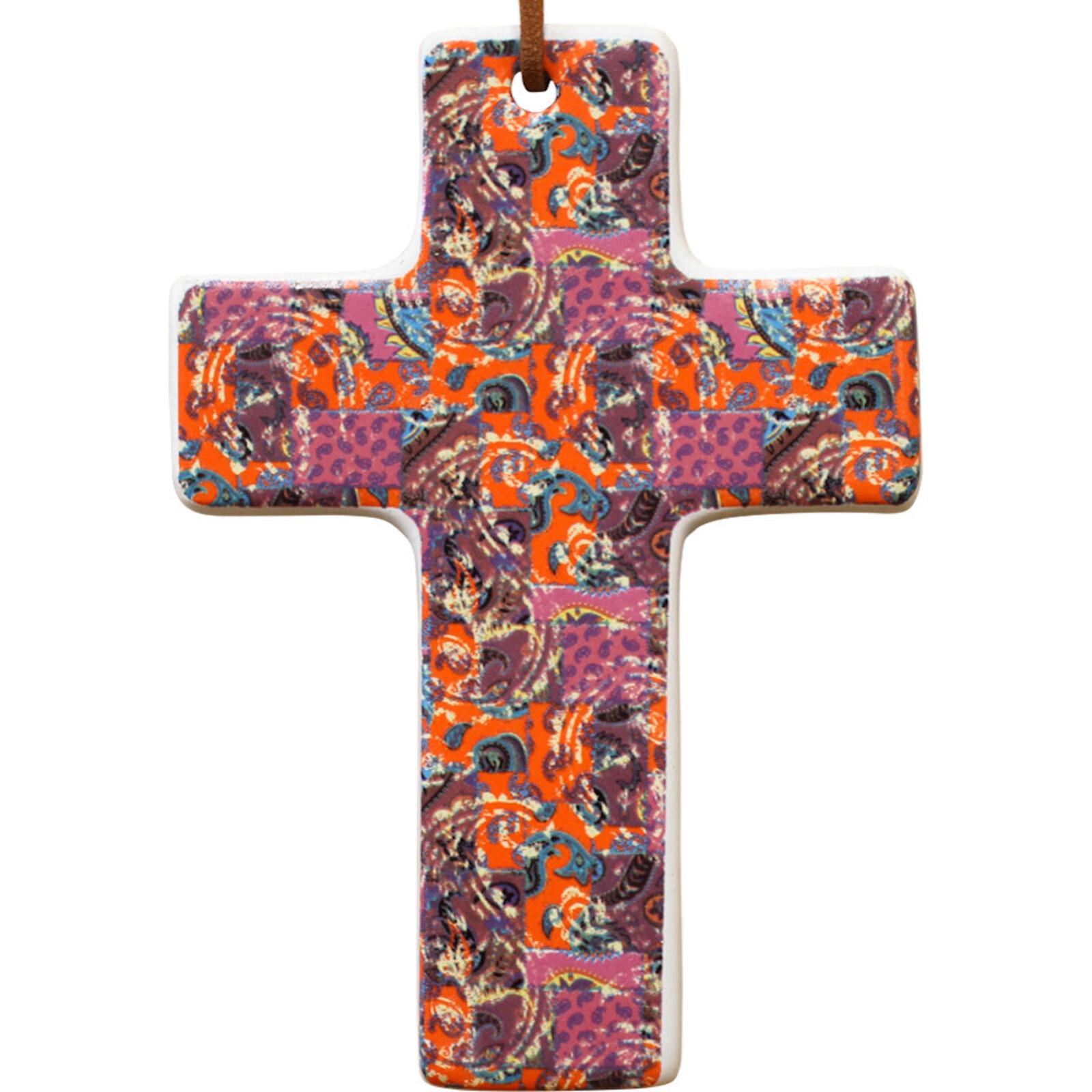 Cross Paisley Pink Sml