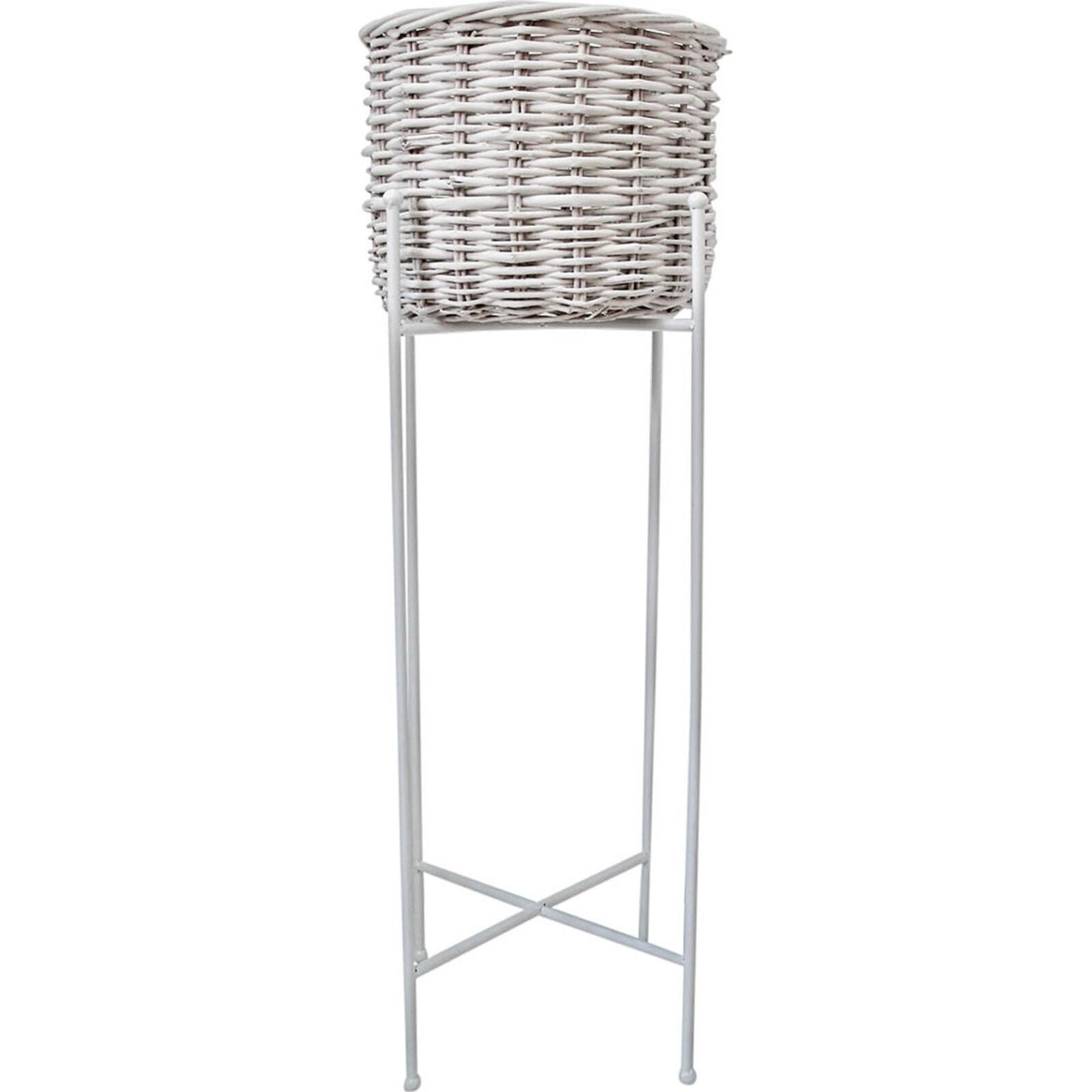 Planter Basket White XTall