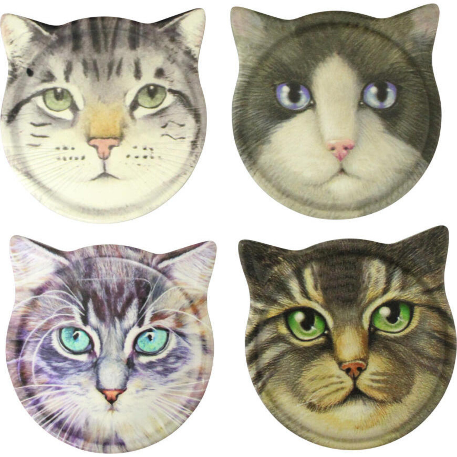 Coaster Cat Ears Assorted Designs