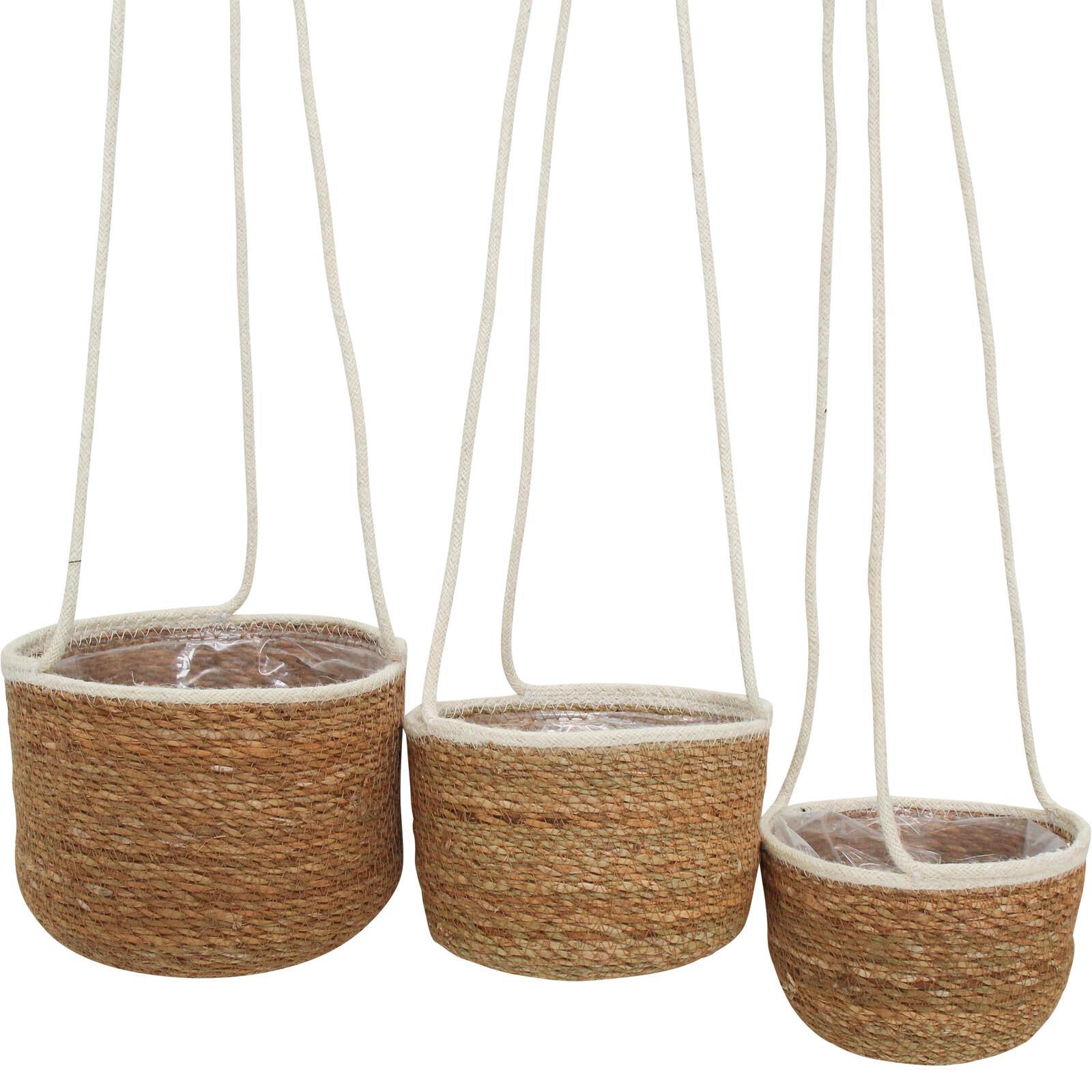 Basket White Hanging Tub S/3