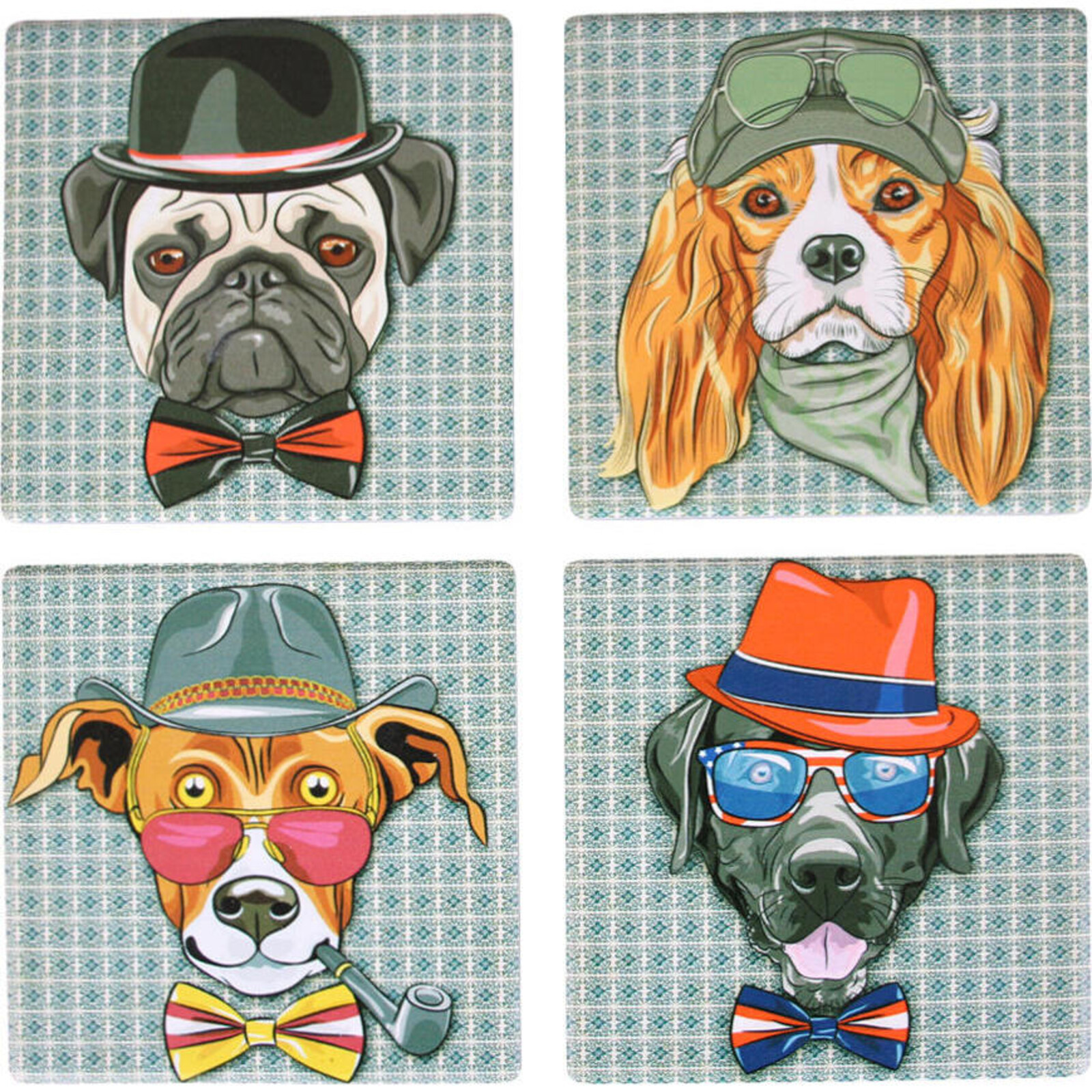 Coaster Hipster Dogs S/4