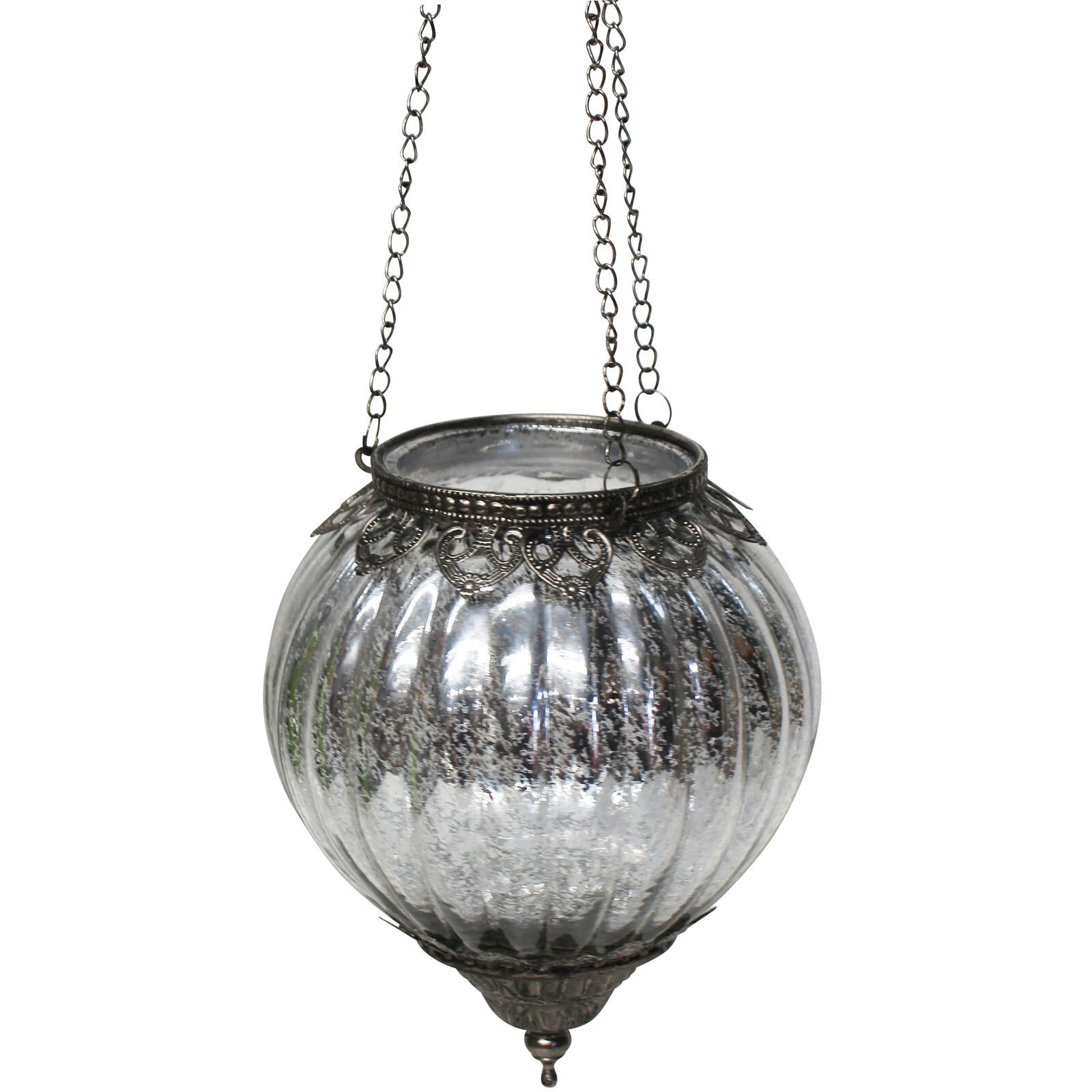 Hang Votive Bauble Silver