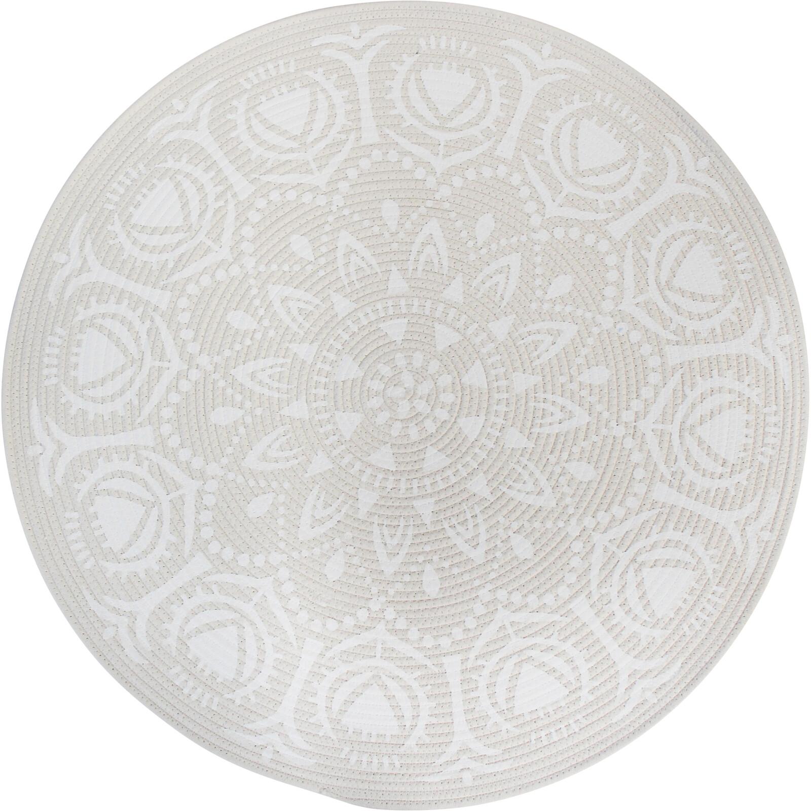 Mat 80cm  Mandala White