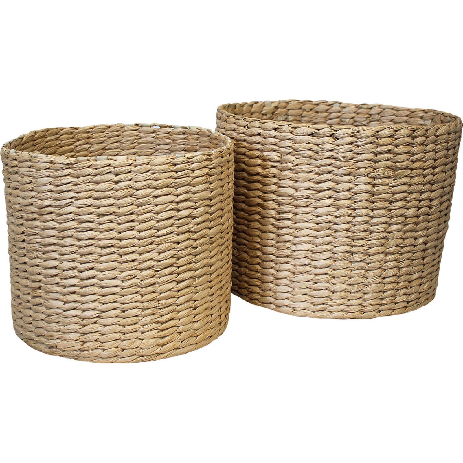 Basket Woven Tub Set/2