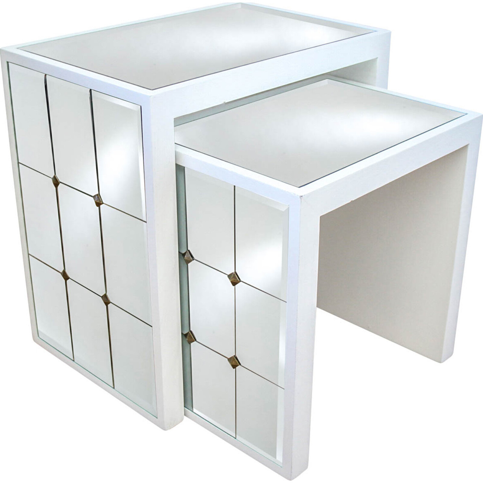 # Side Table S/2 Mirrored Cheval