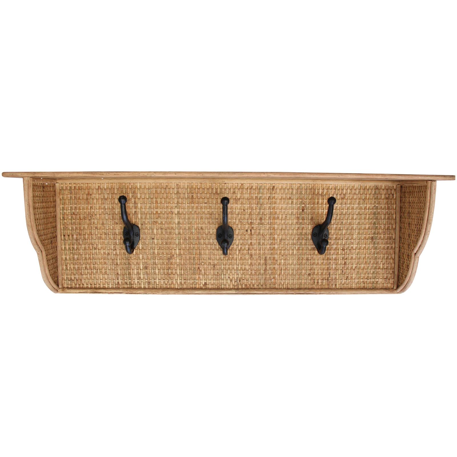Shelf/Hooks Natural