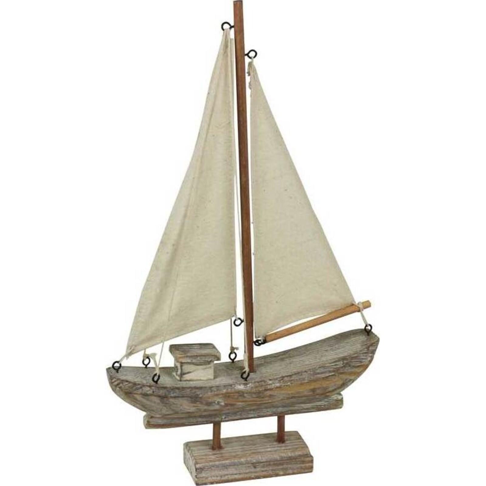 Sailing Boat Natural Small