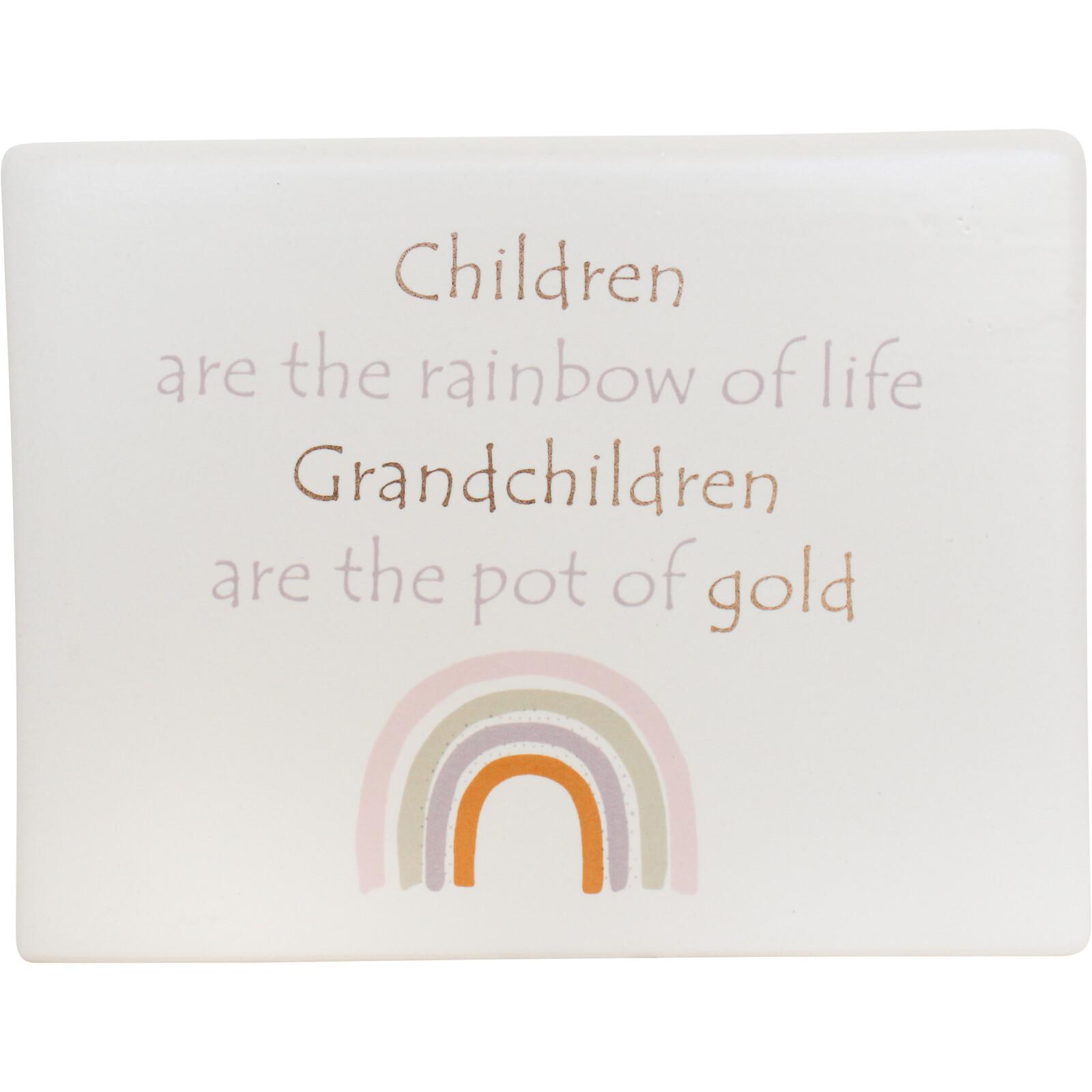 Ceramic Sign Grandchildren Rainbow
