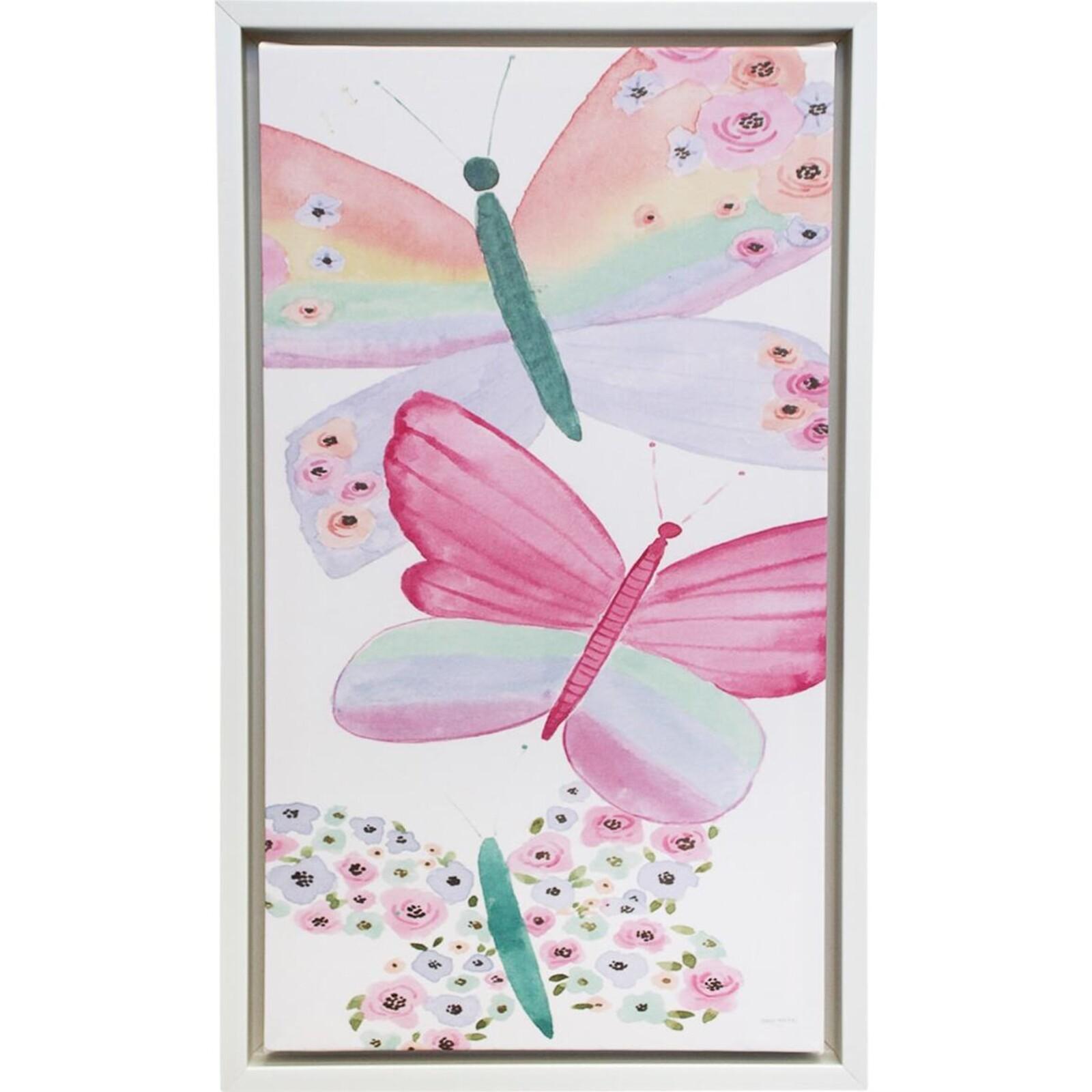 Framed Canvas Butterfies