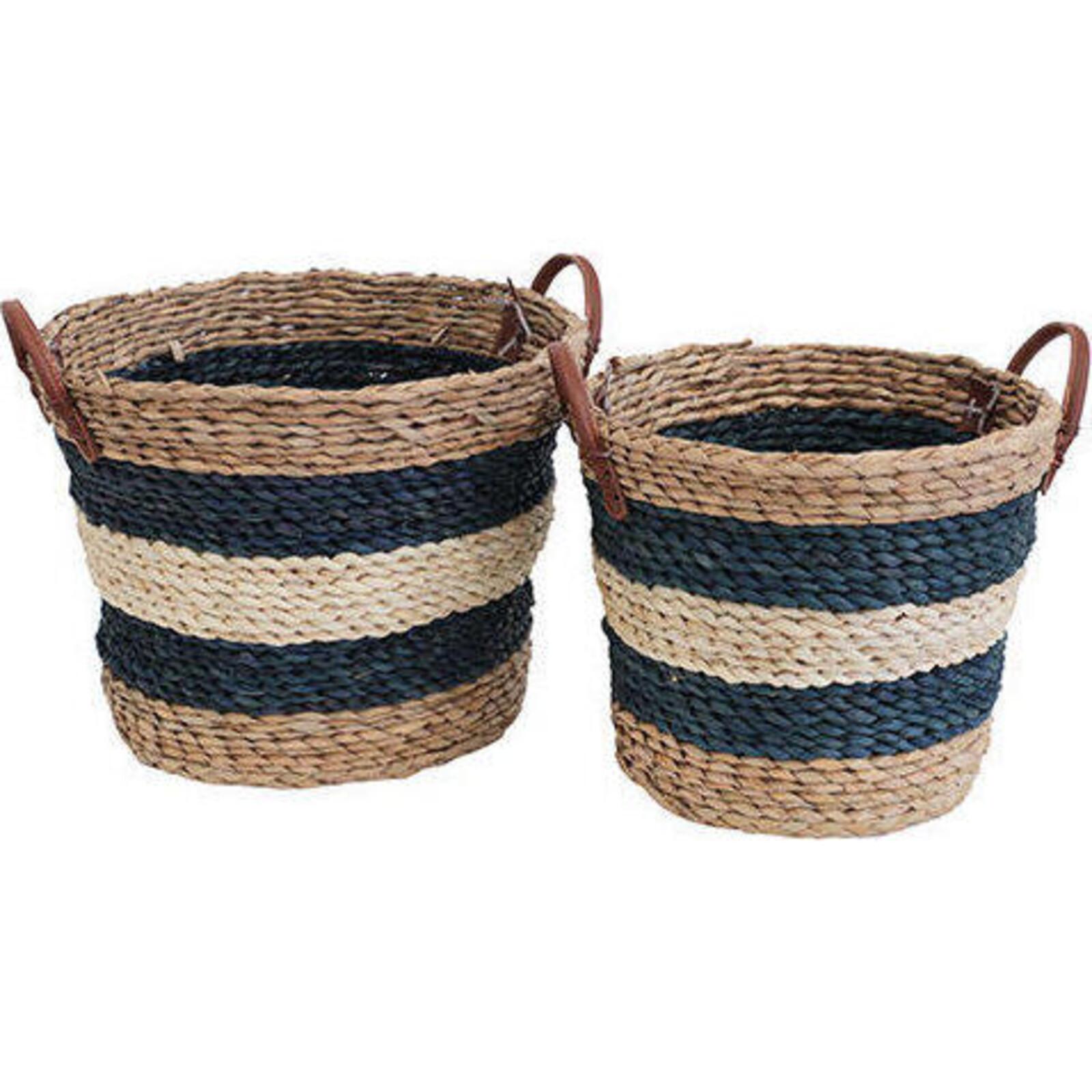 Tub Basket Double Navy S/2