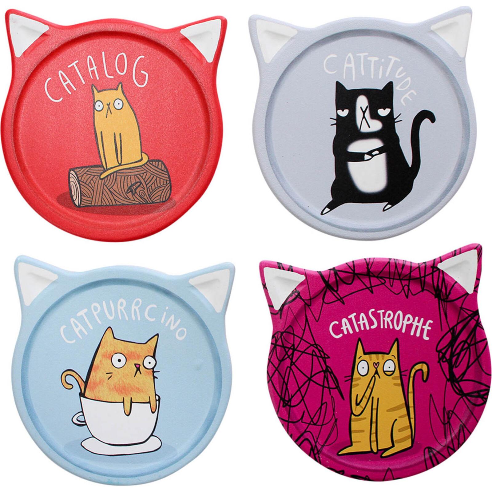 Coasters Cat Comic Asstd