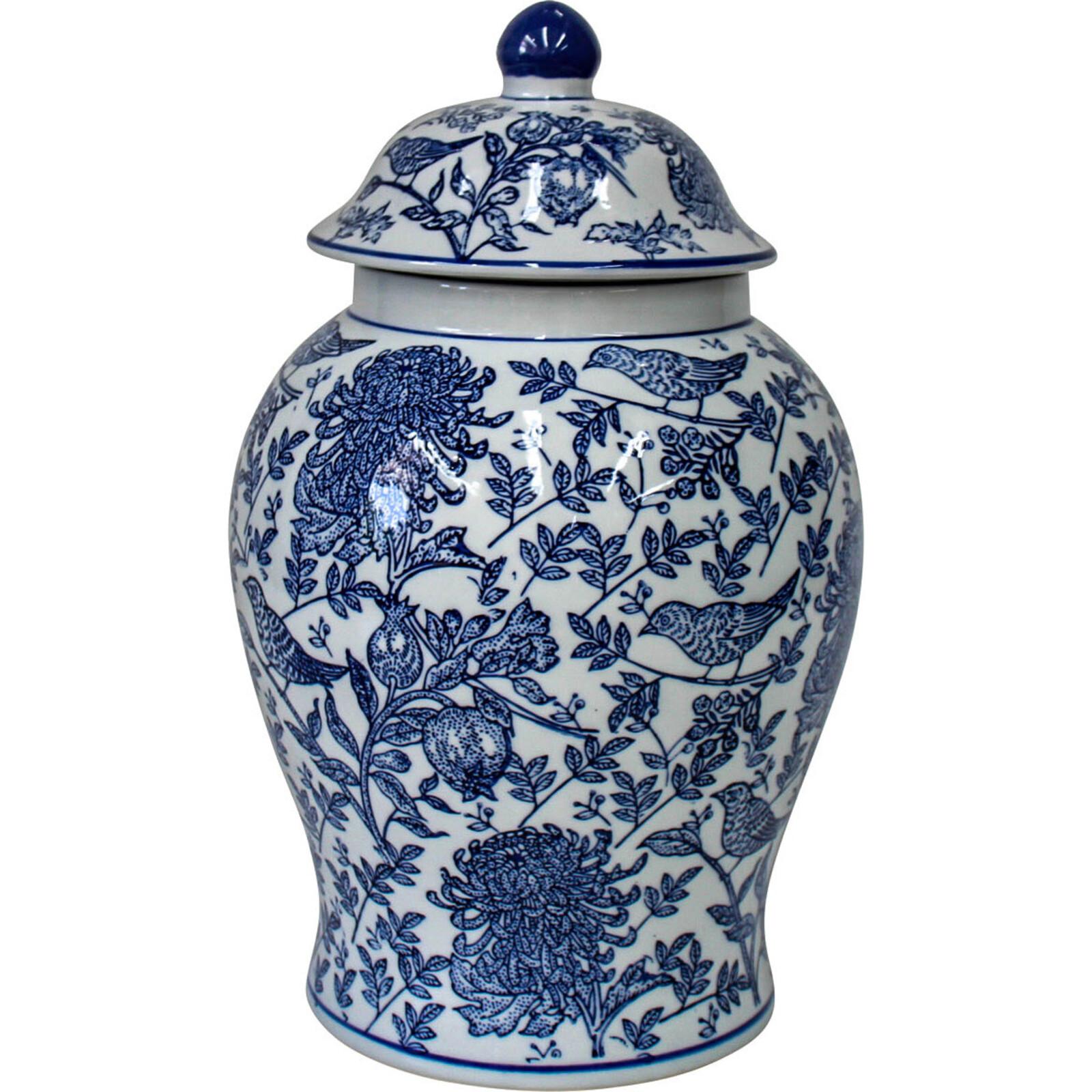 # Ginger Jar Blue Bird/Pomegranate