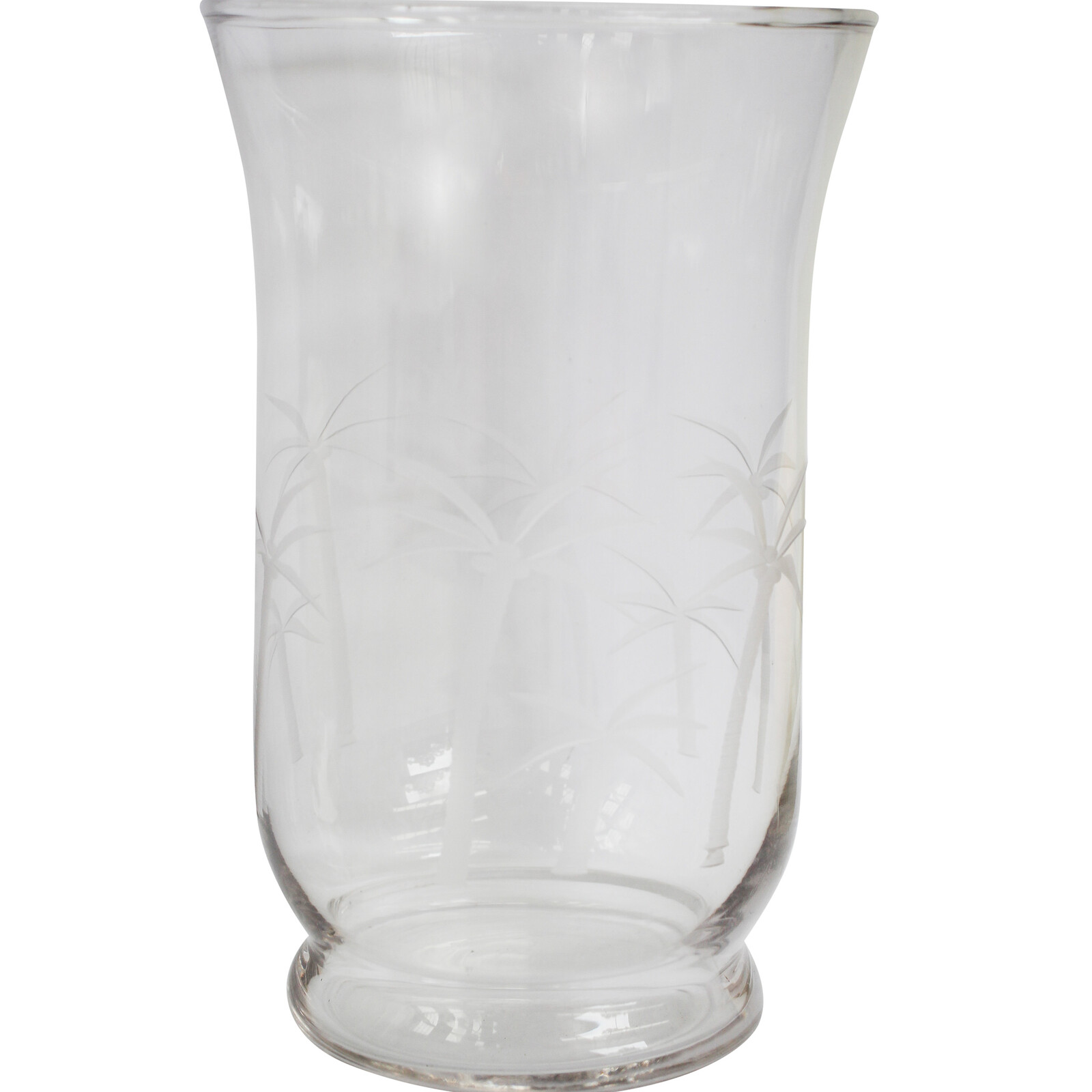 Glass Candle Holder Palm